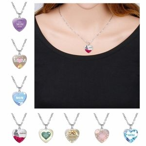 Jewelry - Love You Mom & Baby Family Heart Pendant Necklace